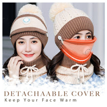 Load image into Gallery viewer, 3PCS Womens Winter Keep Warm Scarf Set