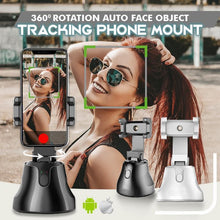 Load image into Gallery viewer, 360 Rotation Auto Face Object Tracking Phone Mount