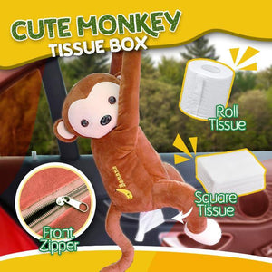 JUMPI Monkey Tissue Box