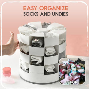 Multi-Layers Rotating Socks Storage Box