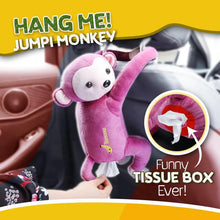 Load image into Gallery viewer, JUMPI Monkey Tissue Box