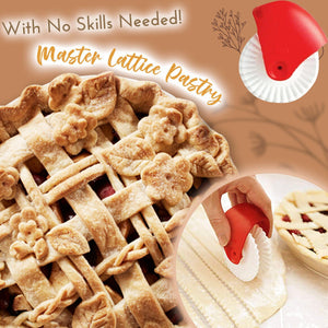 Elegant Lattice And Leaf Pastry Decorating Set