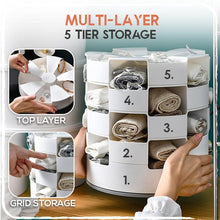 Load image into Gallery viewer, Multi-Layers Rotating Socks Storage Box