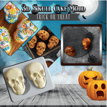 Load image into Gallery viewer, 3D Skull Cake Jelly Chocolate Mould