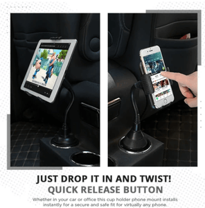 Universal Adjustable Cup Holder Phone Mount