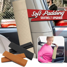 Load image into Gallery viewer, Car Leather Seat Belt Shoulder Covers