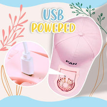 Load image into Gallery viewer, Unisex USB Charging Fan Hat