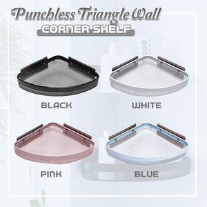 Punchless Triangle Wall Corner Shelf