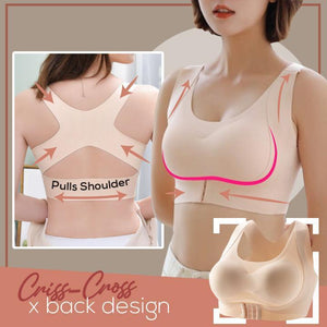 Full Figure Front Buckle Support Bra