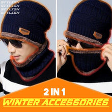 Load image into Gallery viewer, Beanie Warm Hat And Scarf Set 1688