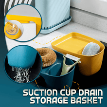 Load image into Gallery viewer, Suction Cup Drain Storage Basket