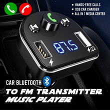 Load image into Gallery viewer, Car Bluetooth to FM Transmitter Music Player