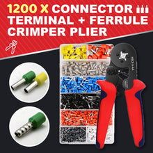 Load image into Gallery viewer, Terminal Crimper Tool Kit 1688 FERRULE CRIMPER PLIER +1200 X CONNECTOR TERMINAL