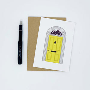 New Home - Yellow Door - Greeting Card