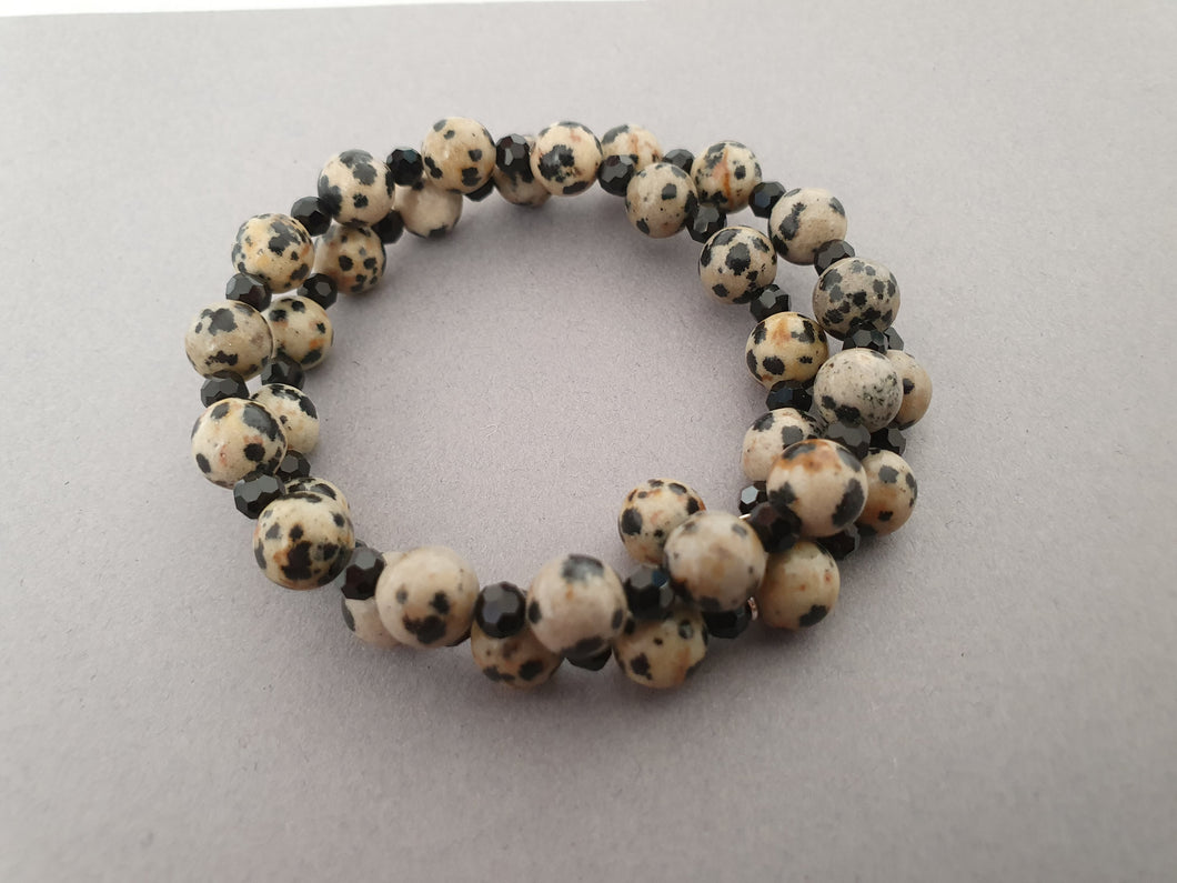 Speckled Stone Double Layer Bracelet