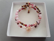 Load image into Gallery viewer, Double Layer Pearlescent Cherry Blossom Bracelet