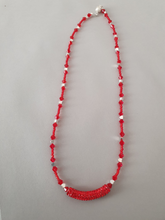 Load image into Gallery viewer, Red Beaded Necklace