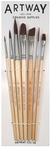 Artway Short Handle Nylon Paintbrush Set (x7)