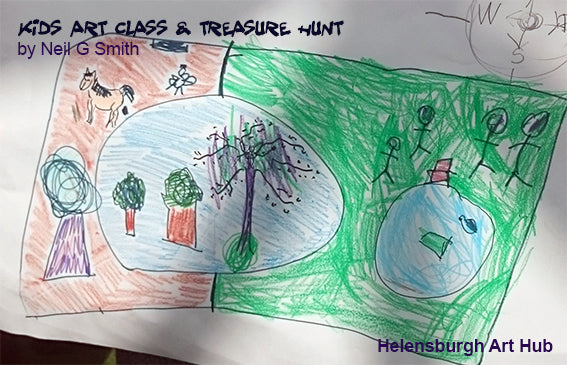 Kids Treasure Hunt and Art Class - Week 1