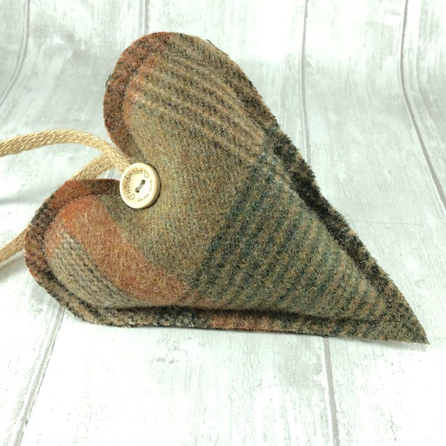 Decorative Hanging Heart - Brown