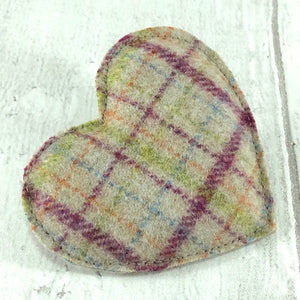 Heart Brooch - Cream