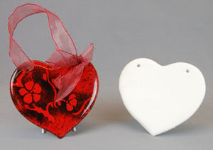 Paint your own Hanging Pottery Heart