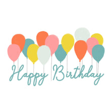 Load image into Gallery viewer, Happy Birthday Balloons - Greeting Card