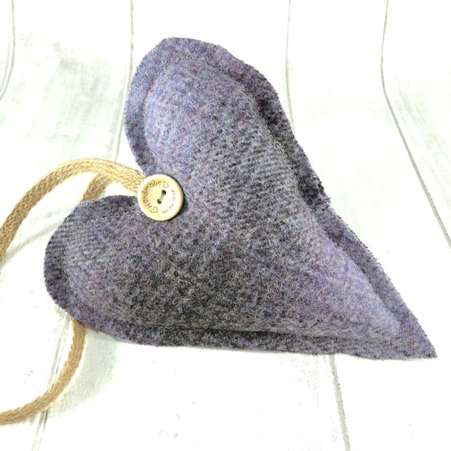 Decorative Hanging Heart - Purple