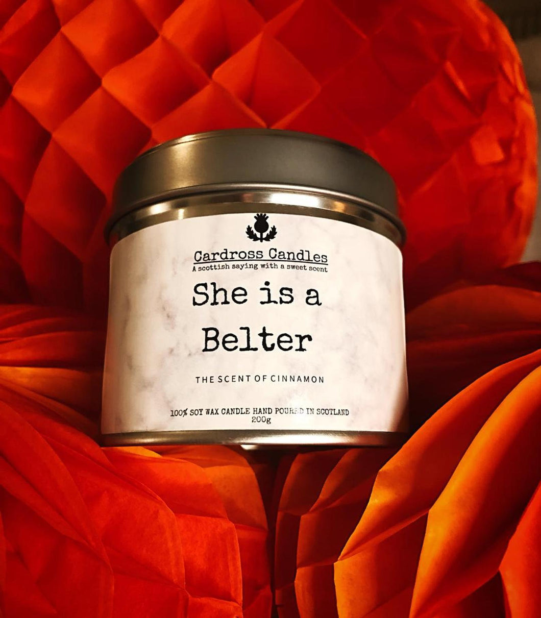 She is a Belter - Cardross Candles