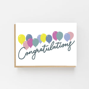 Congratulations Balloons - Greeting Card