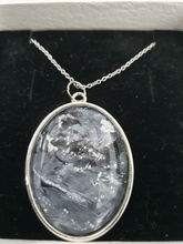 Load image into Gallery viewer, Acrylic paint pendant silver necklace