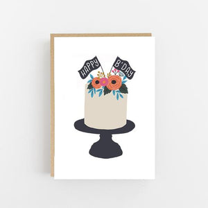 Happy B'Day Cake - Greeting Card