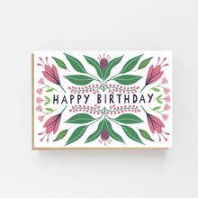 Load image into Gallery viewer, Happy Birthday - Floral Autumn Design - Greeting Card