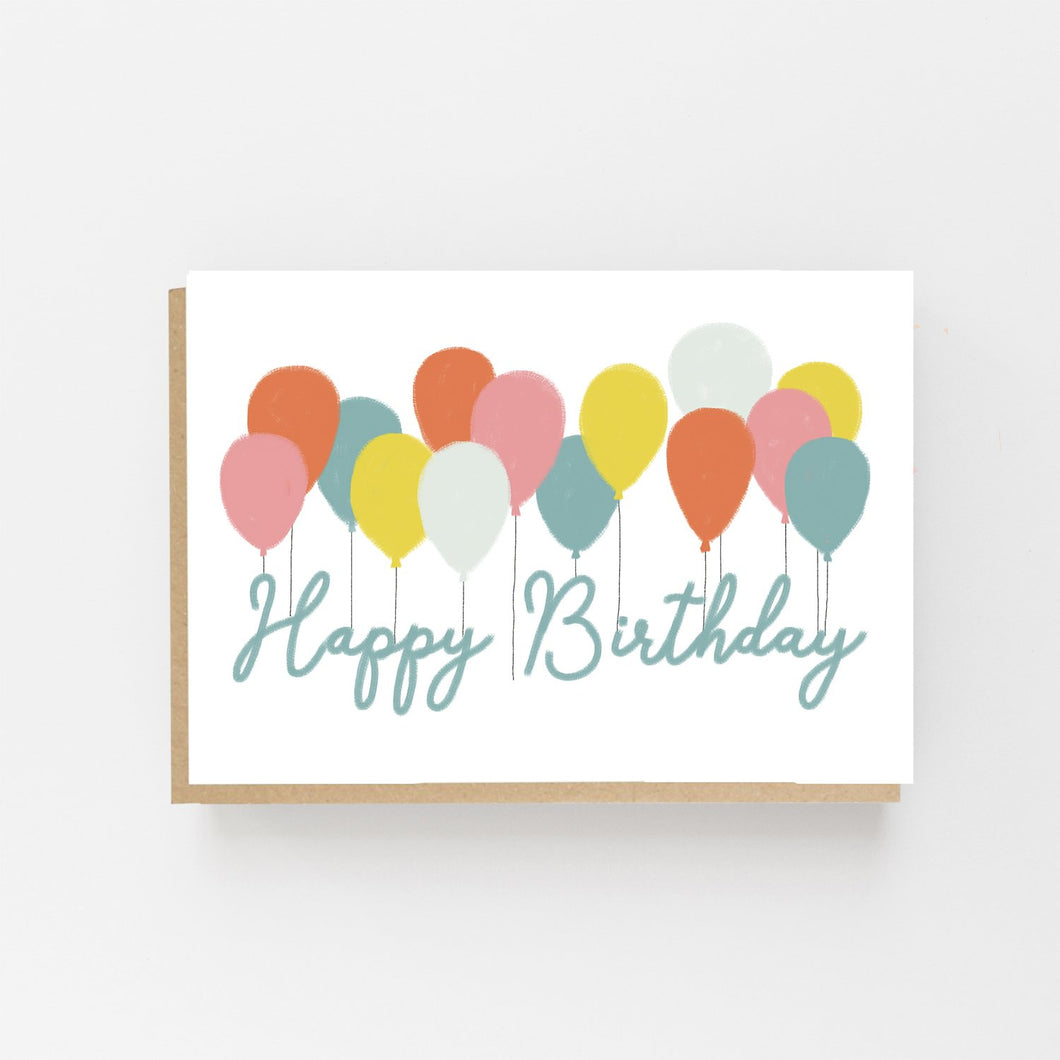 Happy Birthday Balloons - Greeting Card