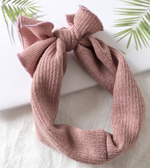 Knitted Headband - Baby Pink