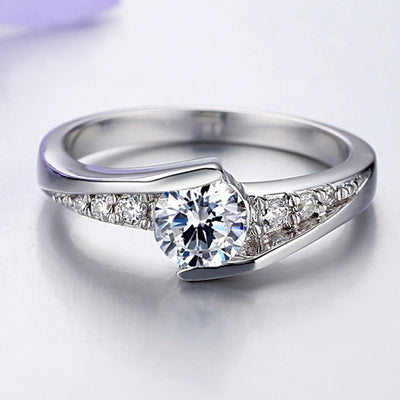 Stylish Rings - Pure Silver Diamond Ring | AD Main Deal