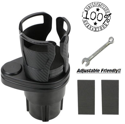 AD Main Deal Rotating Multifunctional Premium Carbon Car Cup Holder