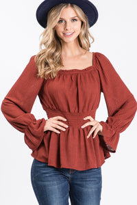 Jackie Smocked Top