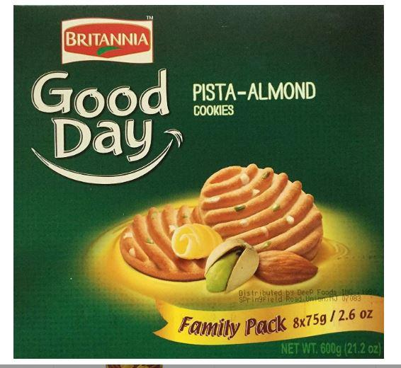 Britannia Good day Pista Almond Family Pack 600g
