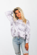 Load image into Gallery viewer, Tie Dye Crew Neck Sweater