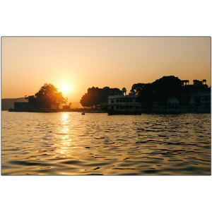 INDIA, Sunset over Udaipur