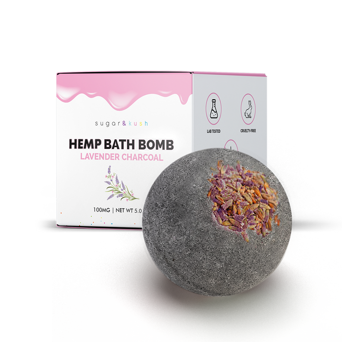 Lavender Charcoal Hemp Bath Bomb