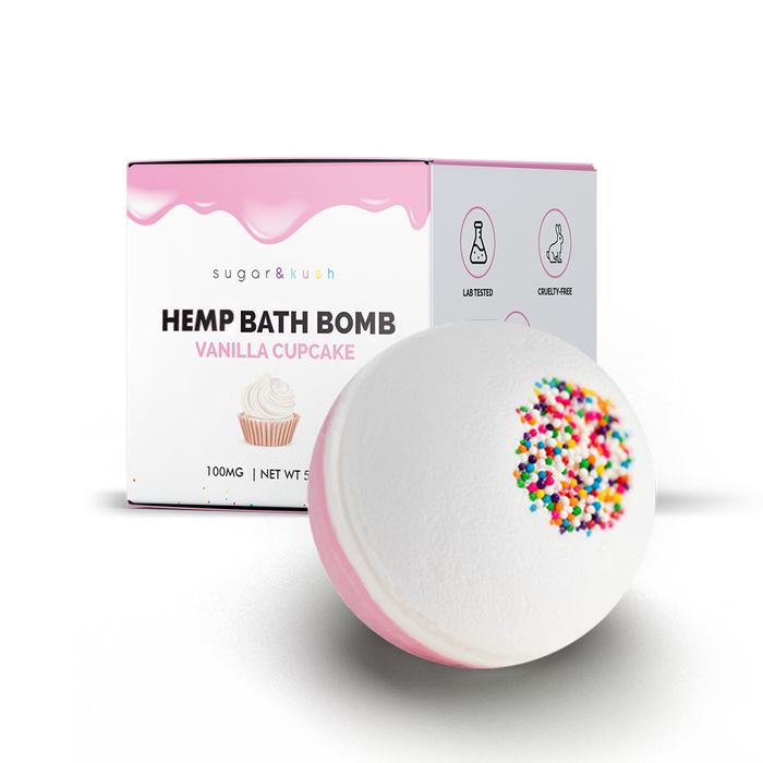 Vanilla Cupcake Hemp Bath Bomb (Add-on & Save)