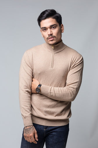 Men`s Half Zipper Sweater