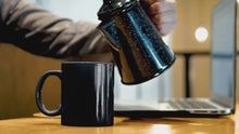 Load and play video in Gallery viewer, The Edible King - Matte Black Magic Mug - Limited Edition (only 100 in stock)