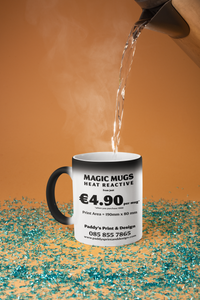 MAGIC MUGS ( HEAT REACTIVE MUGS )