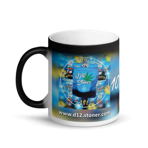 D12.Stoner Matte Black Magic Mug
