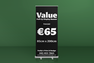Value Pull-Up Display Banner - Paddy's Print & Design