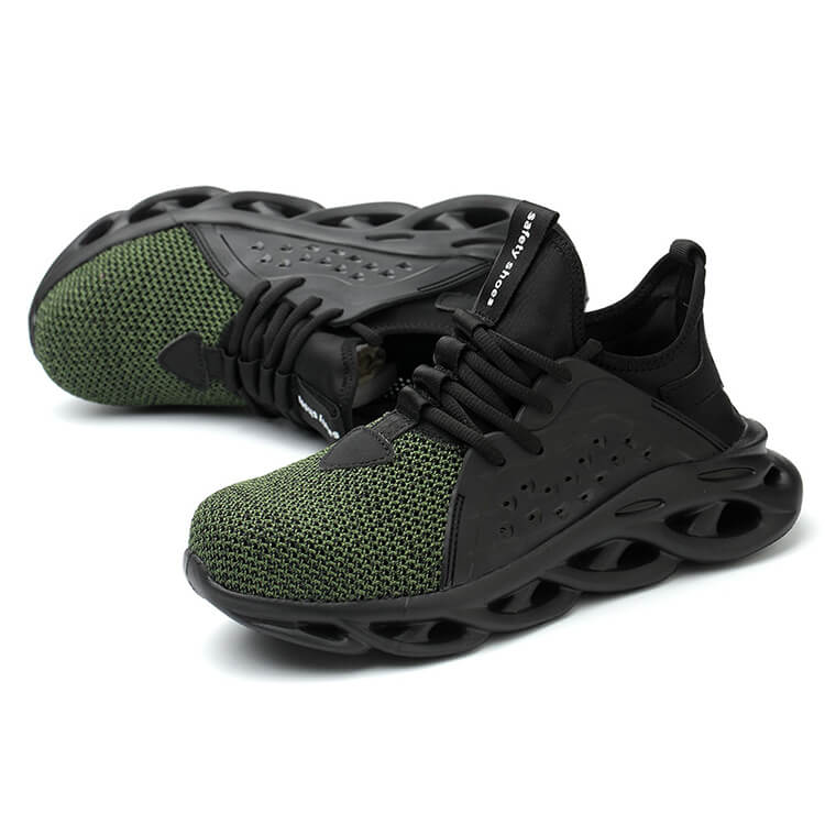 safety green sneakers