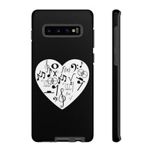 Load image into Gallery viewer, Music & Math Heart - Tough Case in Black